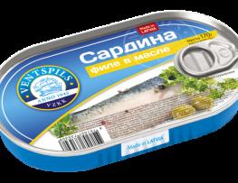 Филе сардины в масле   Нетто: 170гр
