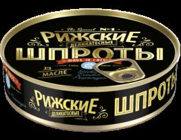 Riga sprats in oil – delicacy  Net: 160g