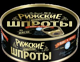 Riga sprats in oil – delicacy  Net: 240g