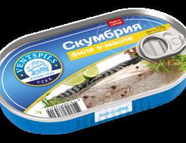 Mackerel  fillets in oil  Net: 170g
