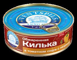 Fried sprats  in tomato sauce + paprika  Net: 240g