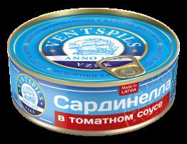 Sardinellas tomātu mērcē   Netto: 240g