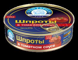 Šprotes tomātu mērcē   Netto: 160g