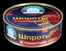 Šprotes tomātu mērcē   Netto: 240g