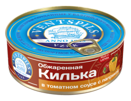 Apceptas brētliņas tomātu mērcē+paprika   Netto: 240g